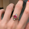 Pink Sapphire & Moonstone Ring - Marrow Fine