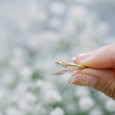 Mini Baby's Breath Flower Ring - Marrow Fine