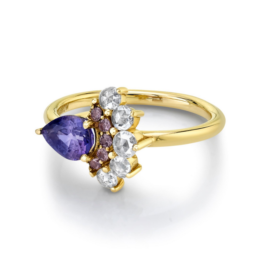 .93ct Bicolor Sapphire Peacock Ring
