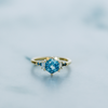 Montana Sapphire Hex Engagement Ring - Marrow Fine