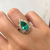 Emerald Pear Ballerina Engagement Ring