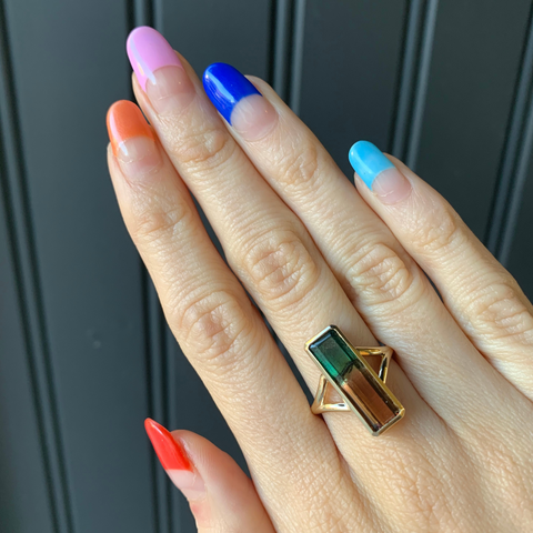 Watermelon Tourmaline Ring - Marrow Fine