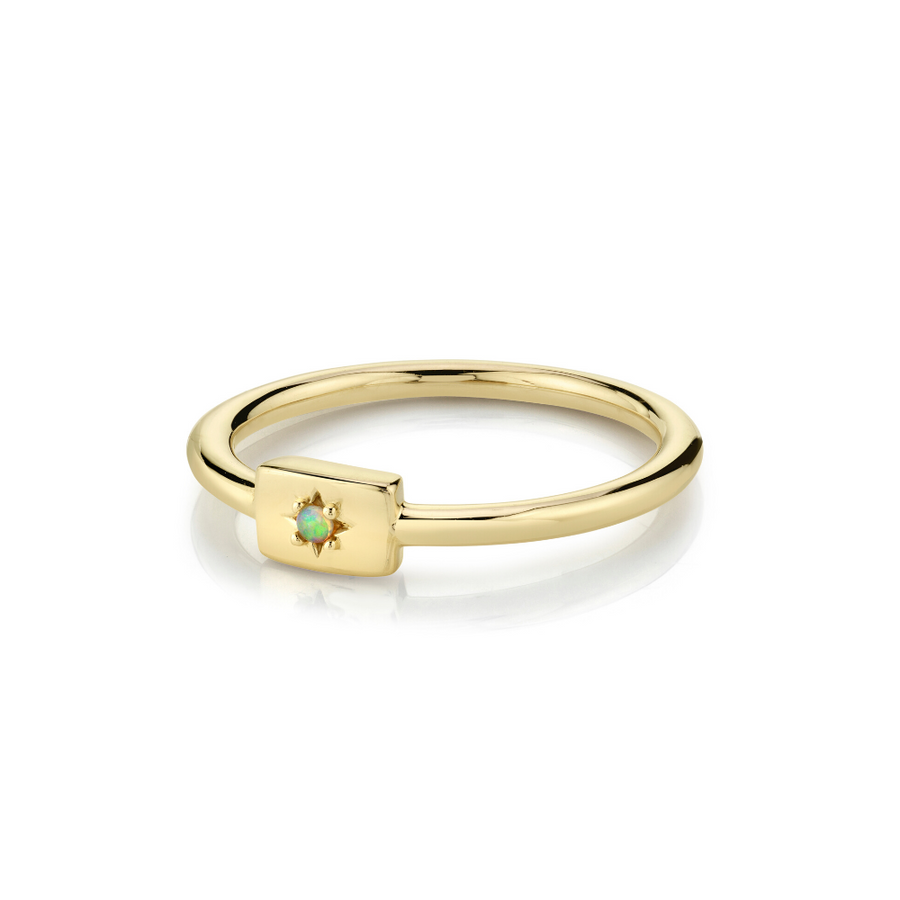 Opal Plate Stacking Ring - October - Marrow Fine