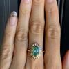 Light Green Beryl Ballerina Engagement Ring - Marrow Fine
