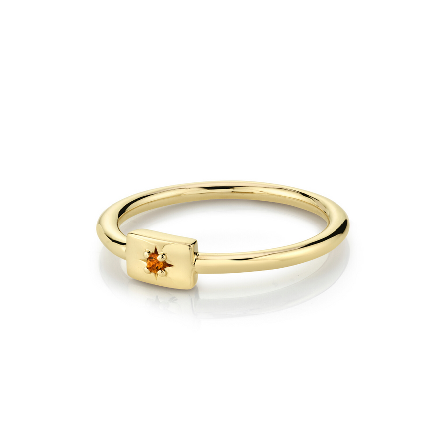 Citrine Plate Stacking Ring - November - Marrow Fine