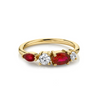Rubies & White Diamond Cluster Ring - Marrow Fine