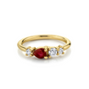 .38ct Ruby & White Diamond Cluster Ring - Marrow Fine