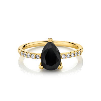 Mini Sweet Melissa Black Onyx Ring - Marrow Fine