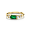.45ct Emerald Baguette & White Diamond Cluster Ring - Marrow Fine