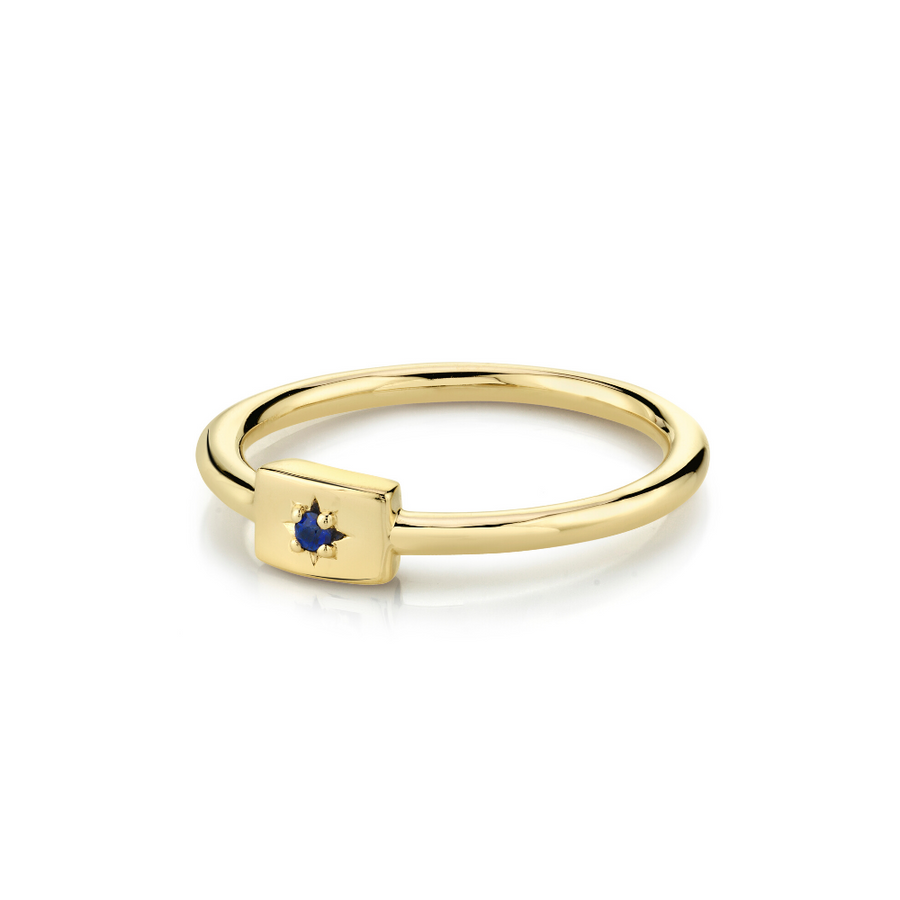 Sapphire Plate Stacking Ring - September - Marrow Fine