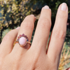 Pink Opal Headdress Ring