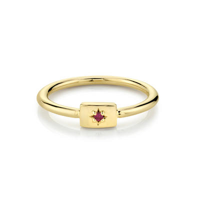 Ruby Plate Stacking Ring - July - Marrow Fine