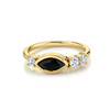 .52ct Onyx & White Diamond Cluster Ring - Marrow Fine