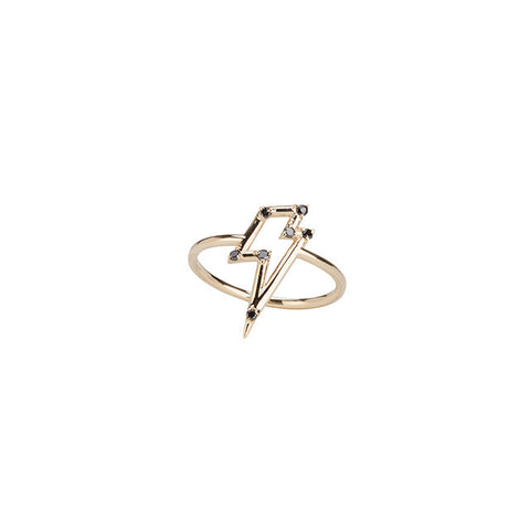 Ziggy in the Sky Ring with Black Diamonds