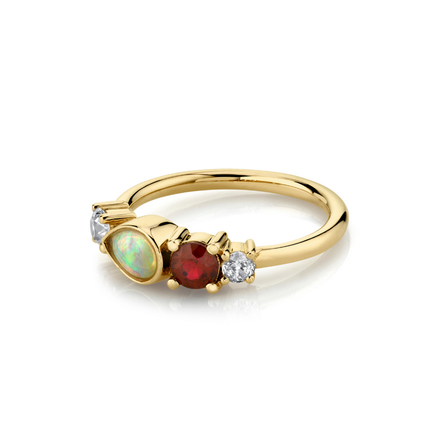 .34ct Ruby & Opal Cluster Ring - Marrow Fine