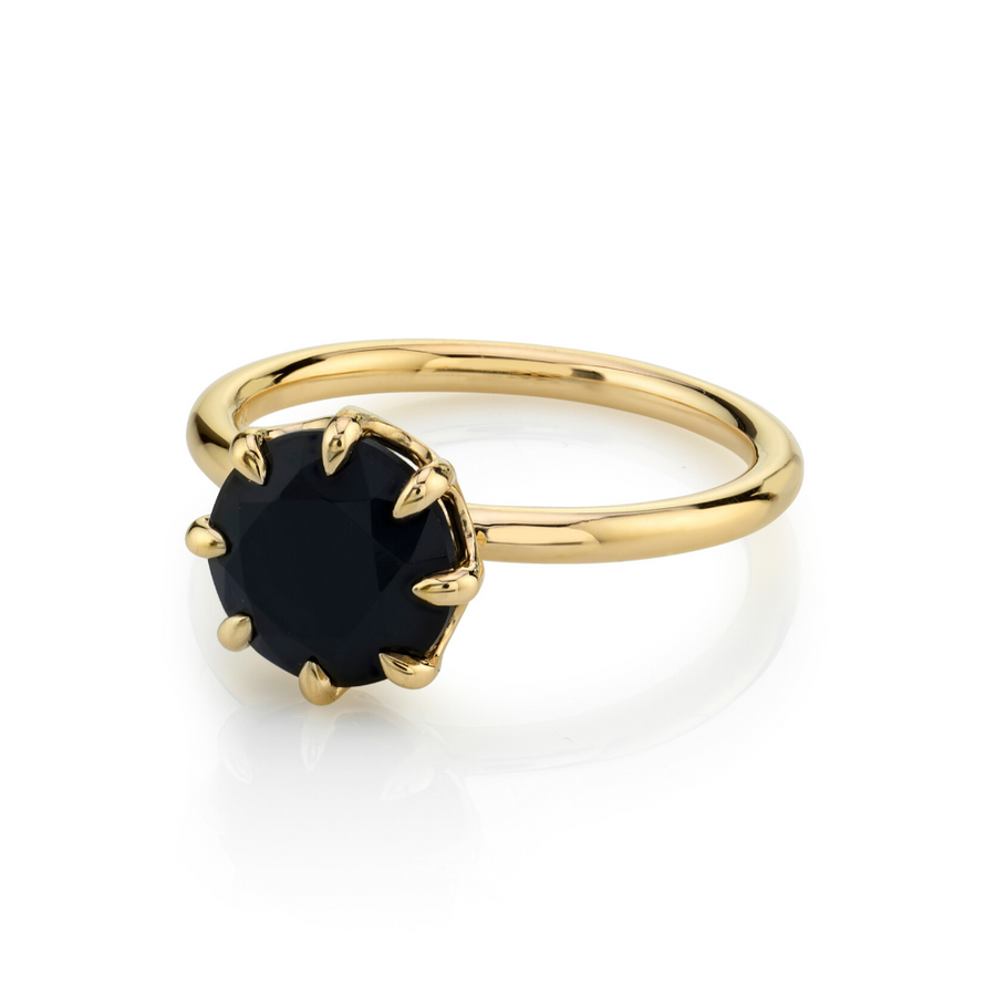Rhiannon Round Black Onyx Solitaire - Marrow Fine