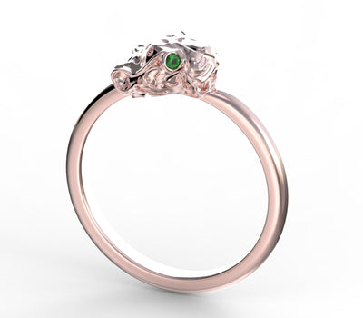Emerald Cheetah Totem Ring - Marrow Fine