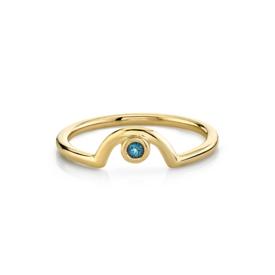 London Blue Topaz Arch Band - November