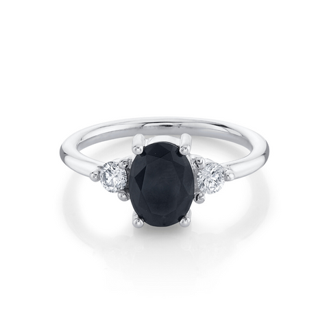 Bewitched Black Onyx 3 Stone Ring - Marrow Fine