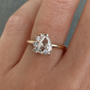 Antique White Diamond Pear Spray Ring