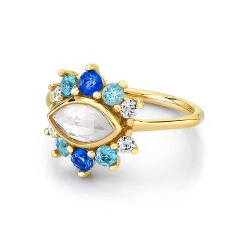 Opalescent Marquise Diamond Ring