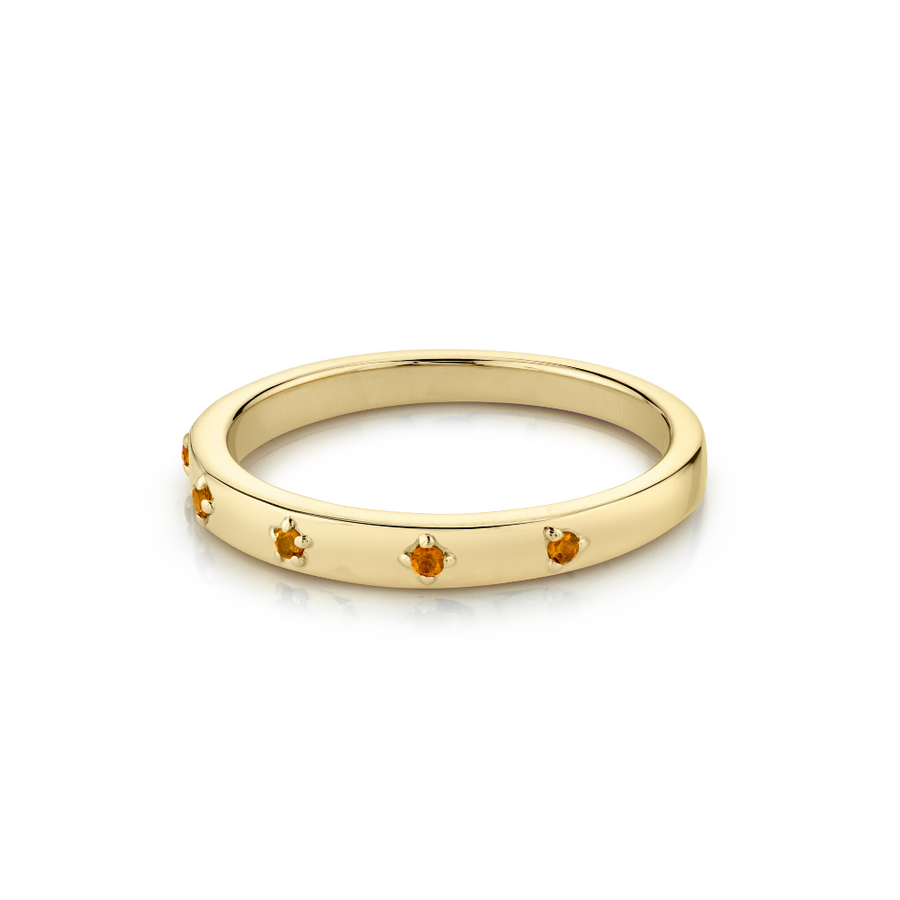 Citrine Star Set Stacking Ring - November - Marrow Fine
