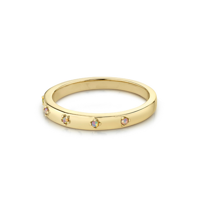Opal Star Set Stacking Ring - October - Marrow Fine