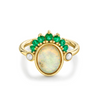Emerald & Opal Headdress Ring - Marrow Fine