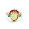 Ruby & Opal Headdress Ring - Marrow Fine
