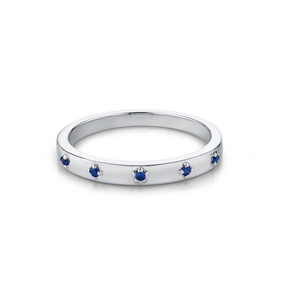 Sapphire Star Set Stacking Ring - September - Marrow Fine