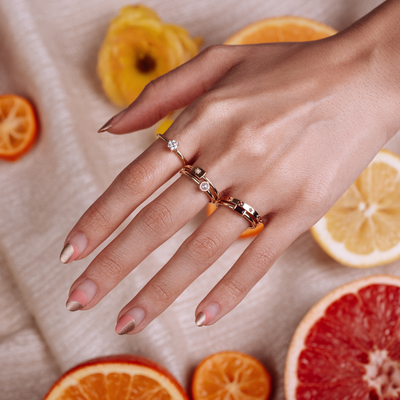 Pearl Plate Stacking Ring - June - Marrow Fine