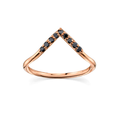 Black Diamond Triangle Nesting Ring - Marrow Fine