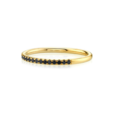 Black Diamond Whisper Half Eternity Band