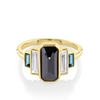 1.57ct Black Diamond Emerald Cut & Baguette Ring