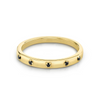 Black Spinel Star Set Stacking Ring - August - Marrow Fine