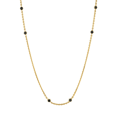 Black Diamond Chain Necklace - Marrow Fine
