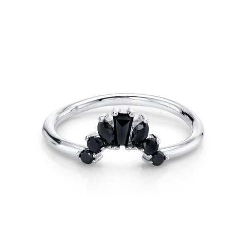 Black Diamond Gemma Ballerina Ring - Marrow Fine