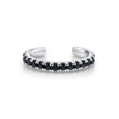 Black Diamond Pavé Ear Cuff