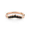 Black Diamond Seven Stars Nesting Ring
