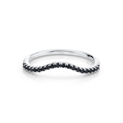 Simple Wave Black Diamond Band