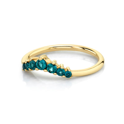 Alexandrite Seven Stars Stacking Ring