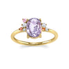 Bi-Color Sapphire Cluster Engagement Ring