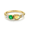 .23ct Emerald & Opal Cluster Ring - Marrow Fine