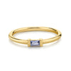 Tanzanite Straight Baguette Stacking Ring - December - Marrow Fine