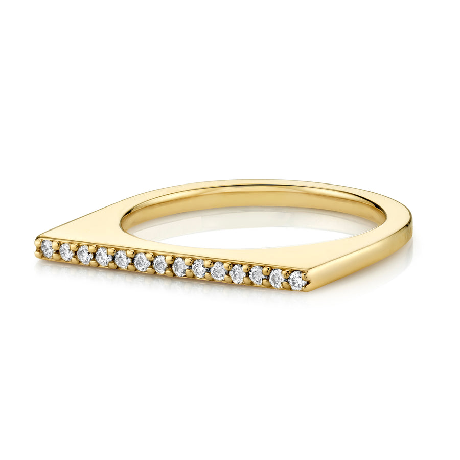White Diamond Thin Edge Ring - Marrow Fine