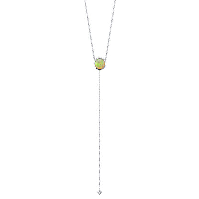 Fire & Ice Opal Lariat - Marrow Fine