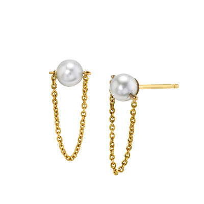 Chain Pearl Ear Knockers