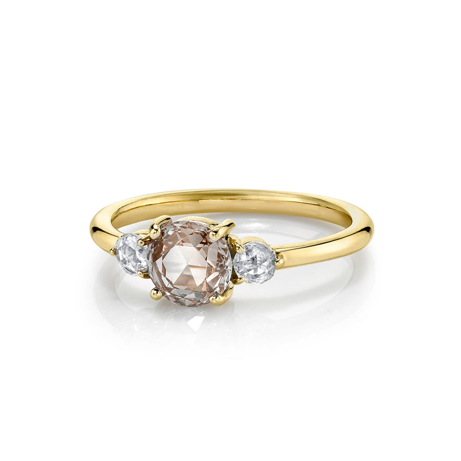 Rosecut Diamond Three Stone Engagement Ring - Marrow Fine
