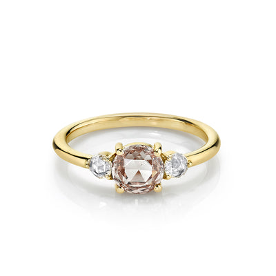 Rosecut Diamond Three Stone Engagement Ring