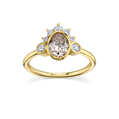 Champagne Headdress Engagement Ring - Marrow Fine